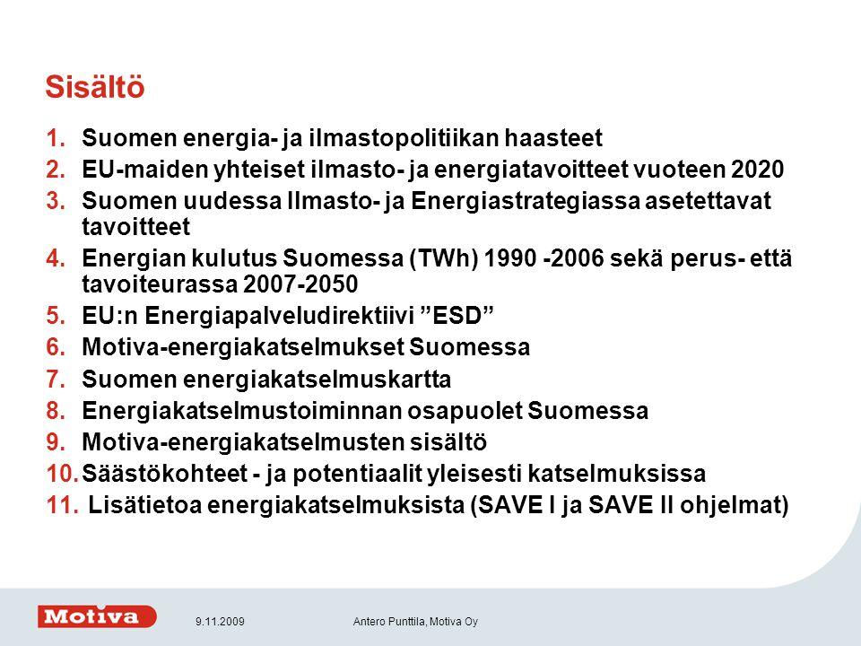 Sisältö Suomen energia- ja ilmastopolitiikan haasteet