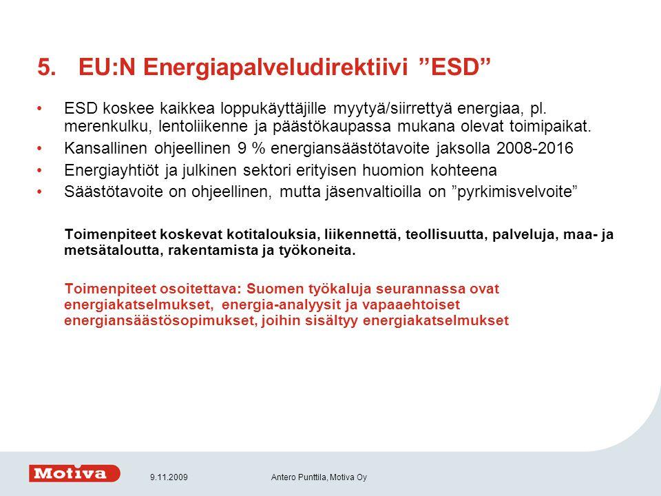 EU:N Energiapalveludirektiivi ESD