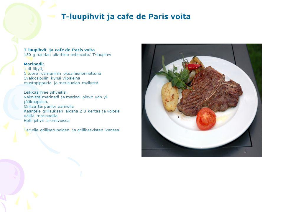 T-luupihvit ja cafe de Paris voita