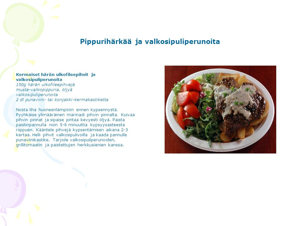 Pippurihärkää ja valkosipuliperunoita