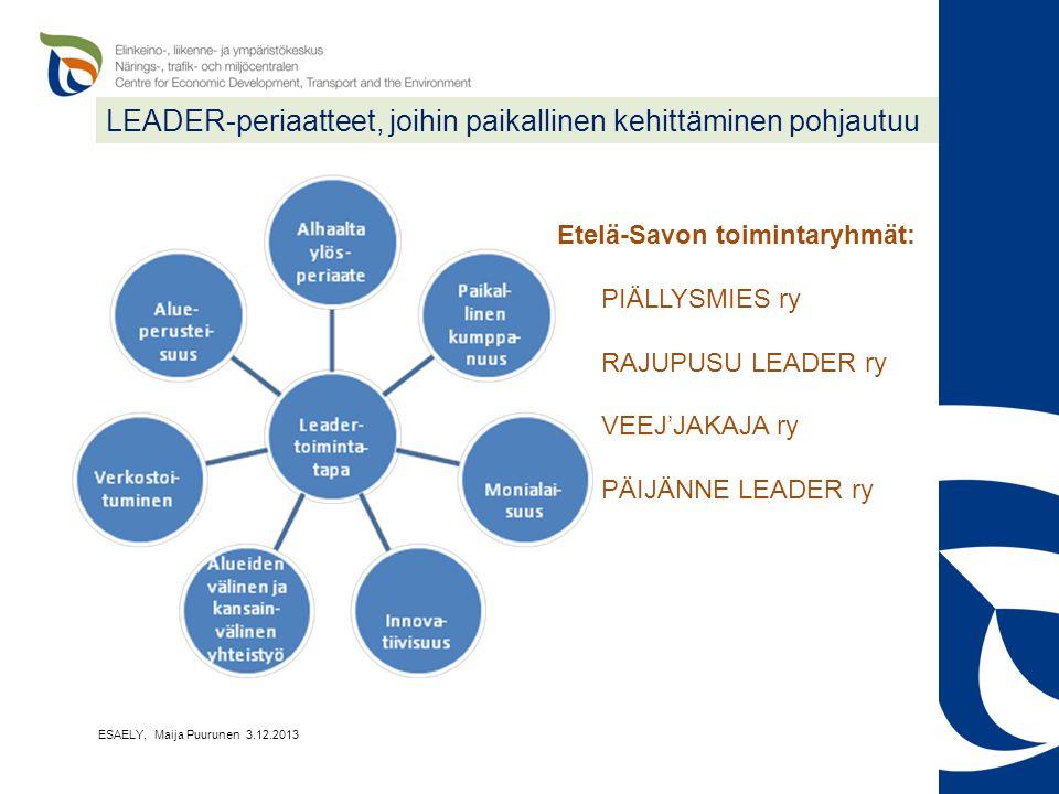 LEADER-periaatteet, joihin paikallinen kehittäminen pohjautuu