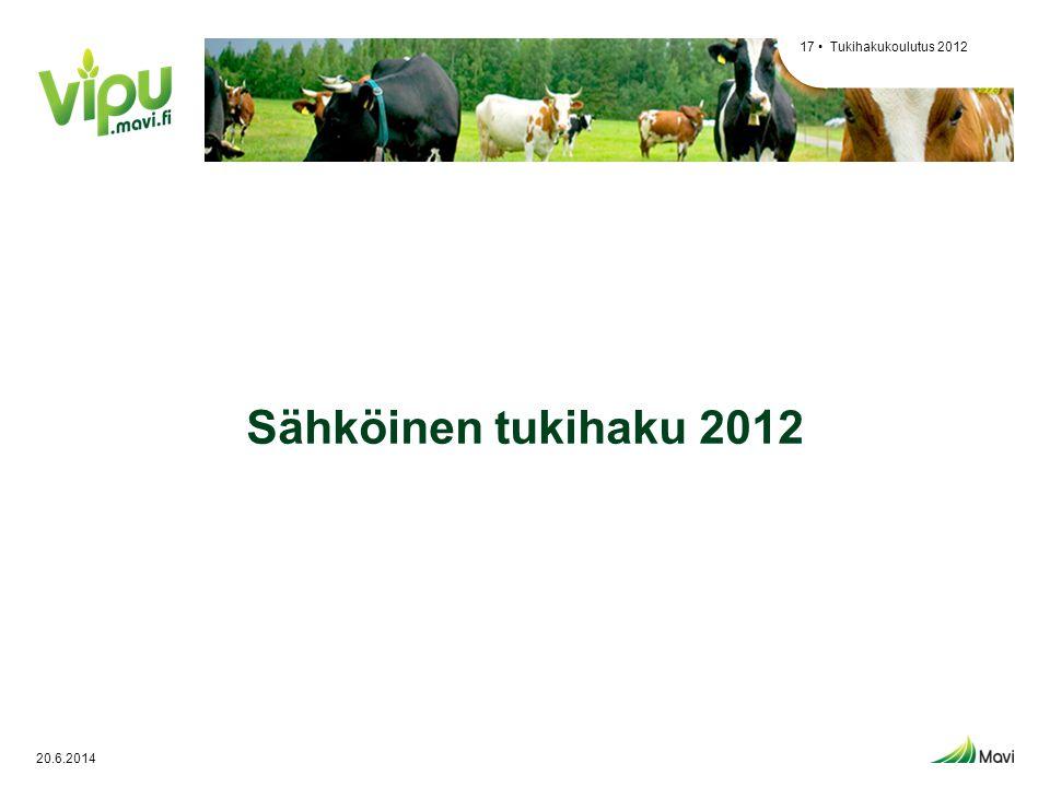 Tukihakukoulutus 2012 Sähköinen tukihaku 2012 2.4.2017