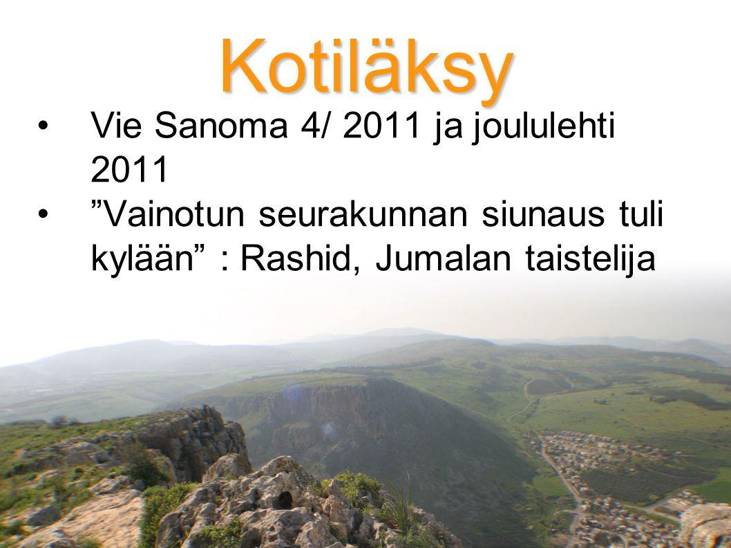 Kotiläksy Vie Sanoma 4/ 2011 ja joululehti 2011