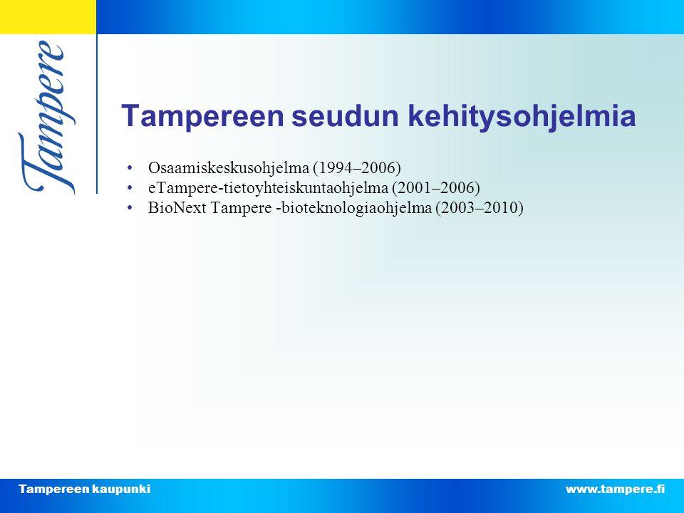 Tampereen seudun kehitysohjelmia