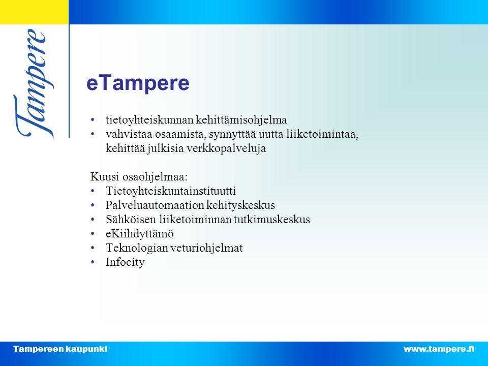 eTampere • tietoyhteiskunnan kehittämisohjelma