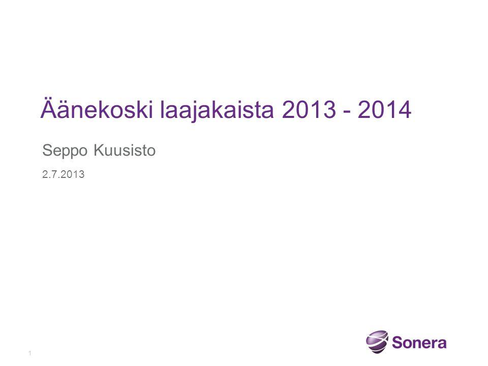 Äänekoski laajakaista 2013 - 2014