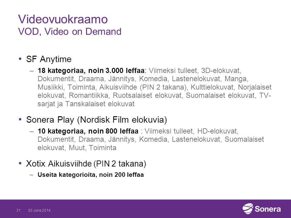 Videovuokraamo VOD, Video on Demand