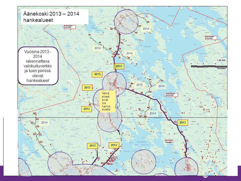 Äänekoski 2013 – 2014 hankealueet