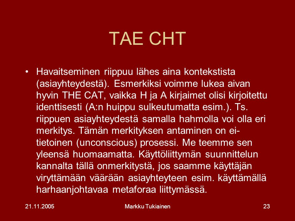 TAE CHT