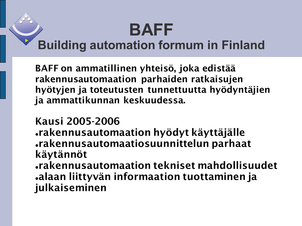 BAFF Building automation formum in Finland