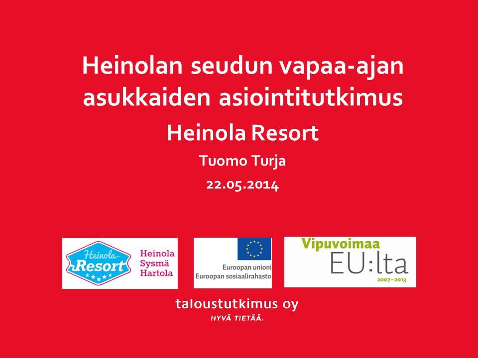 Heinolan seudun vapaa-ajan asukkaiden asiointitutkimus