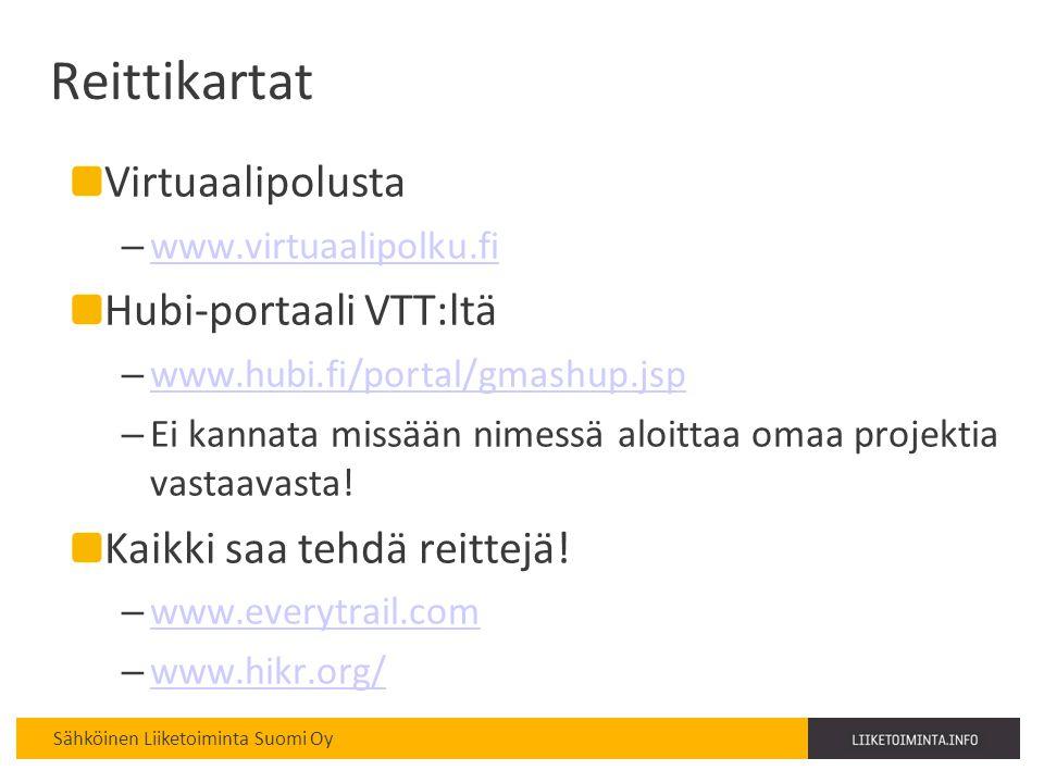 Reittikartat Virtuaalipolusta Hubi-portaali VTT:ltä