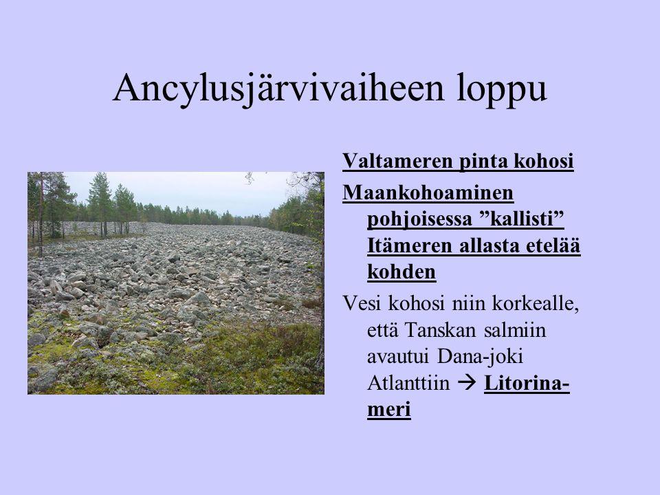 Ancylusjärvivaiheen loppu