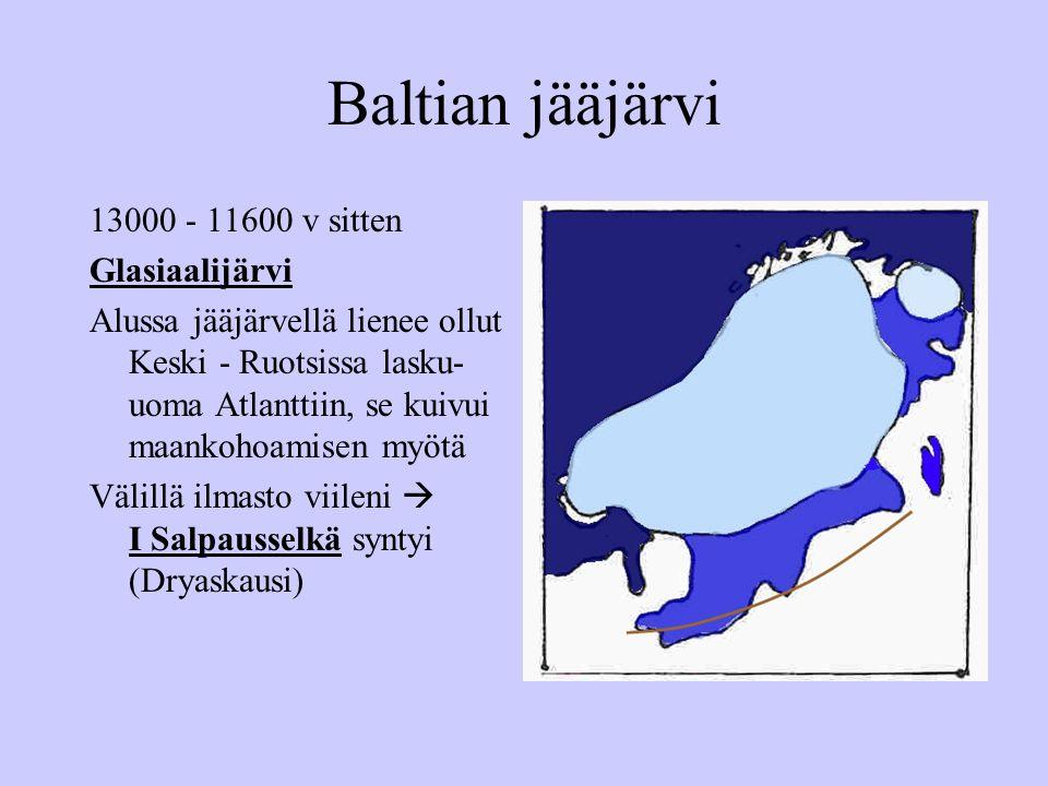 Baltian jääjärvi 13000 - 11600 v sitten Glasiaalijärvi