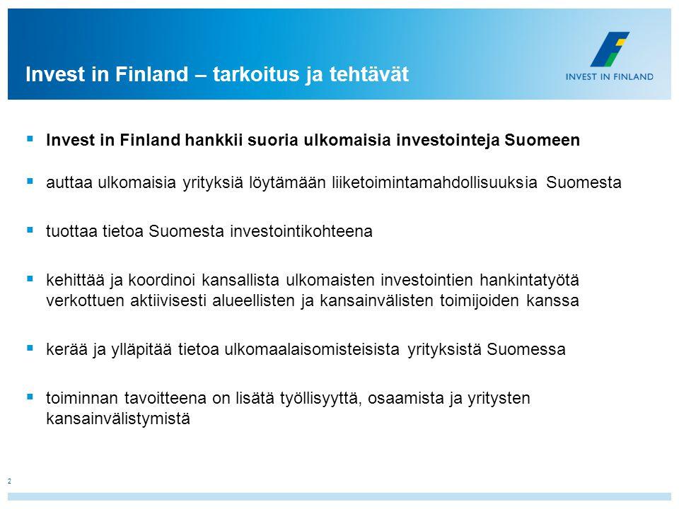 Invest in Finland – tarkoitus ja tehtävät