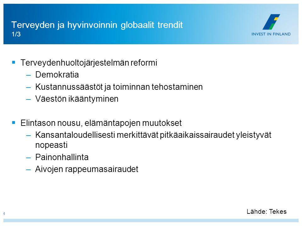 Terveyden ja hyvinvoinnin globaalit trendit 1/3