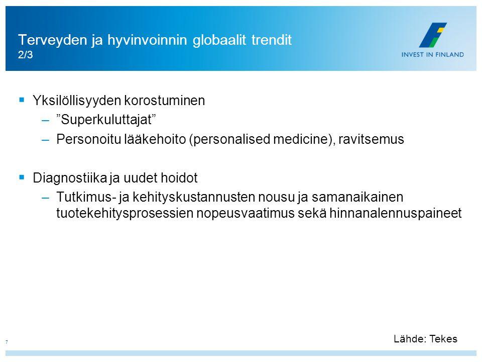 Terveyden ja hyvinvoinnin globaalit trendit 2/3