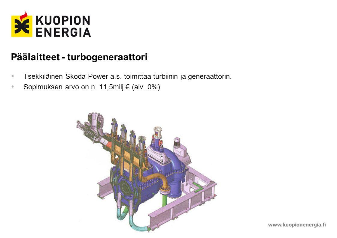Päälaitteet - turbogeneraattori