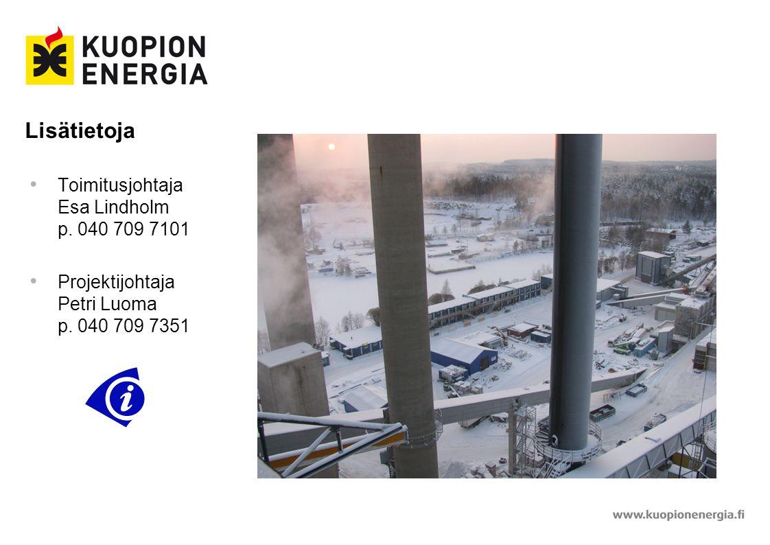 Lisätietoja Toimitusjohtaja Esa Lindholm p. 040 709 7101
