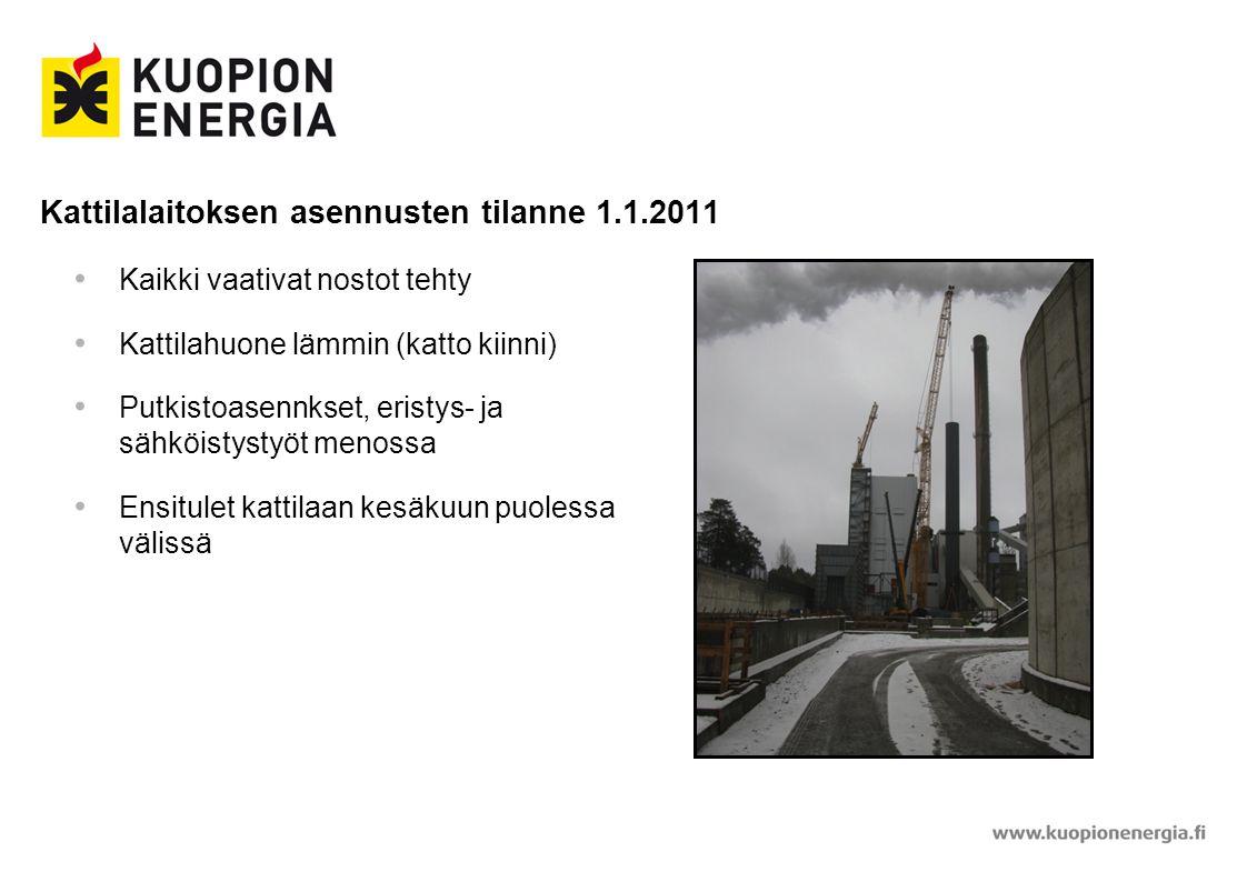 Kattilalaitoksen asennusten tilanne 1.1.2011