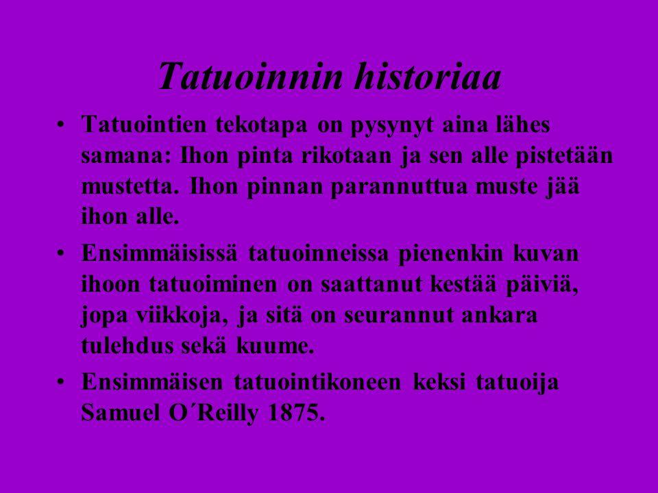 Tatuoinnin historiaa
