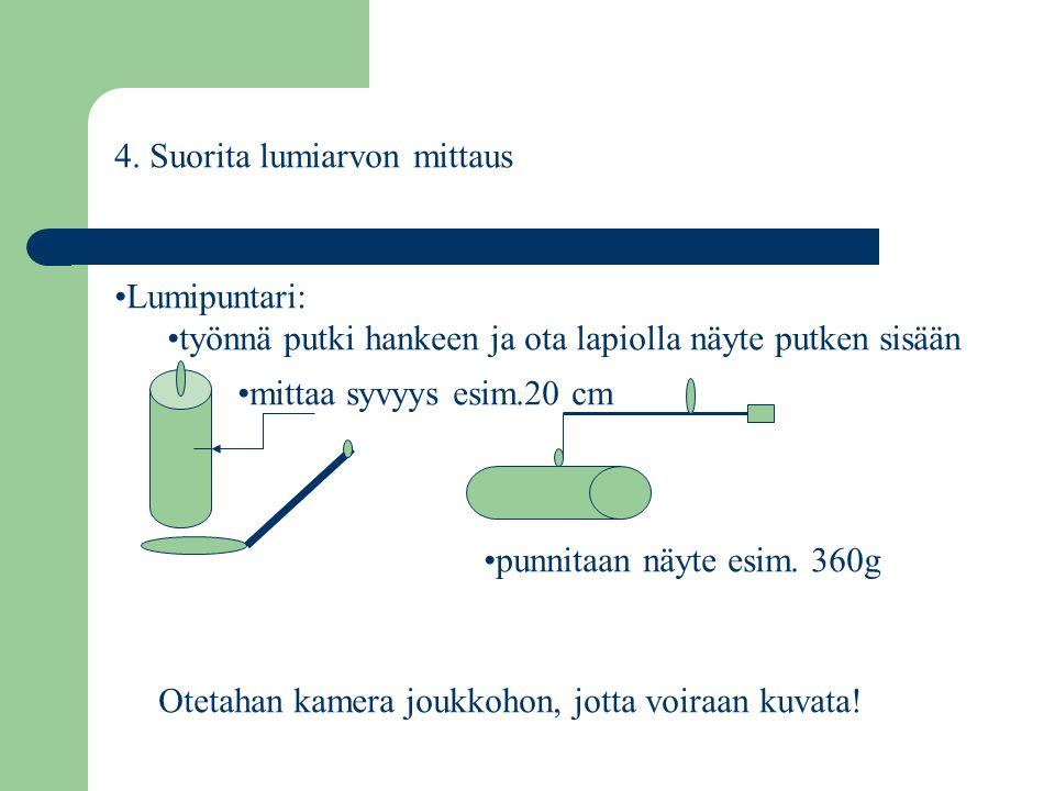 4. Suorita lumiarvon mittaus