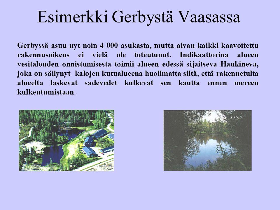 Esimerkki Gerbystä Vaasassa