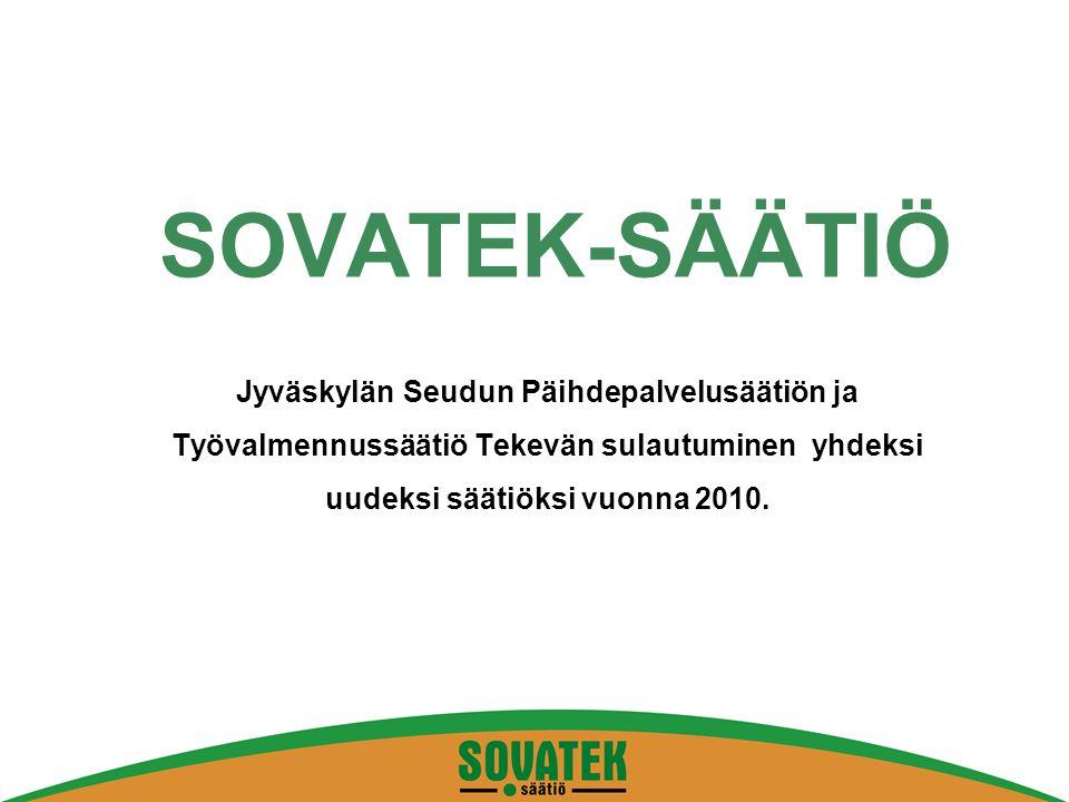 SOVATEK-SÄÄTIÖ Jyväskylän Seudun Päihdepalvelusäätiön ja Työvalmennussäätiö Tekevän sulautuminen yhdeksi uudeksi säätiöksi vuonna 2010.