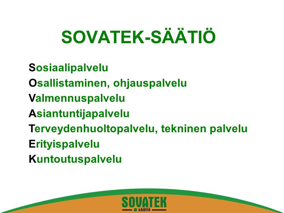 SOVATEK-SÄÄTIÖ Sosiaalipalvelu Osallistaminen, ohjauspalvelu