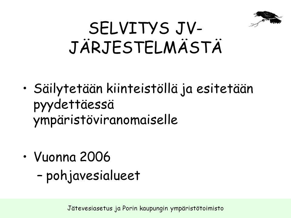 SELVITYS JV-JÄRJESTELMÄSTÄ