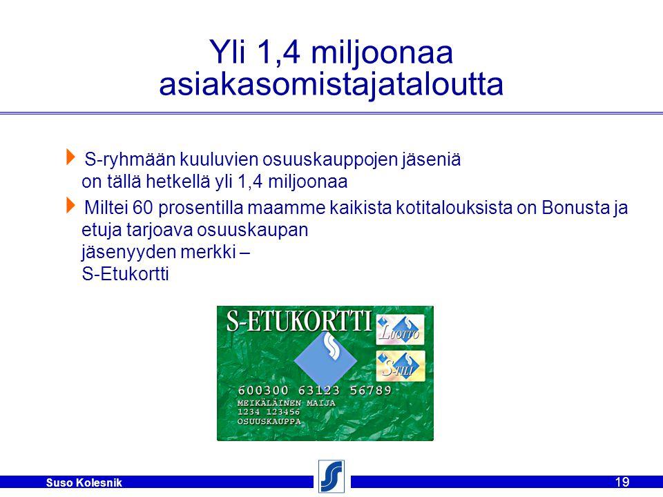 Yli 1,4 miljoonaa asiakasomistajataloutta