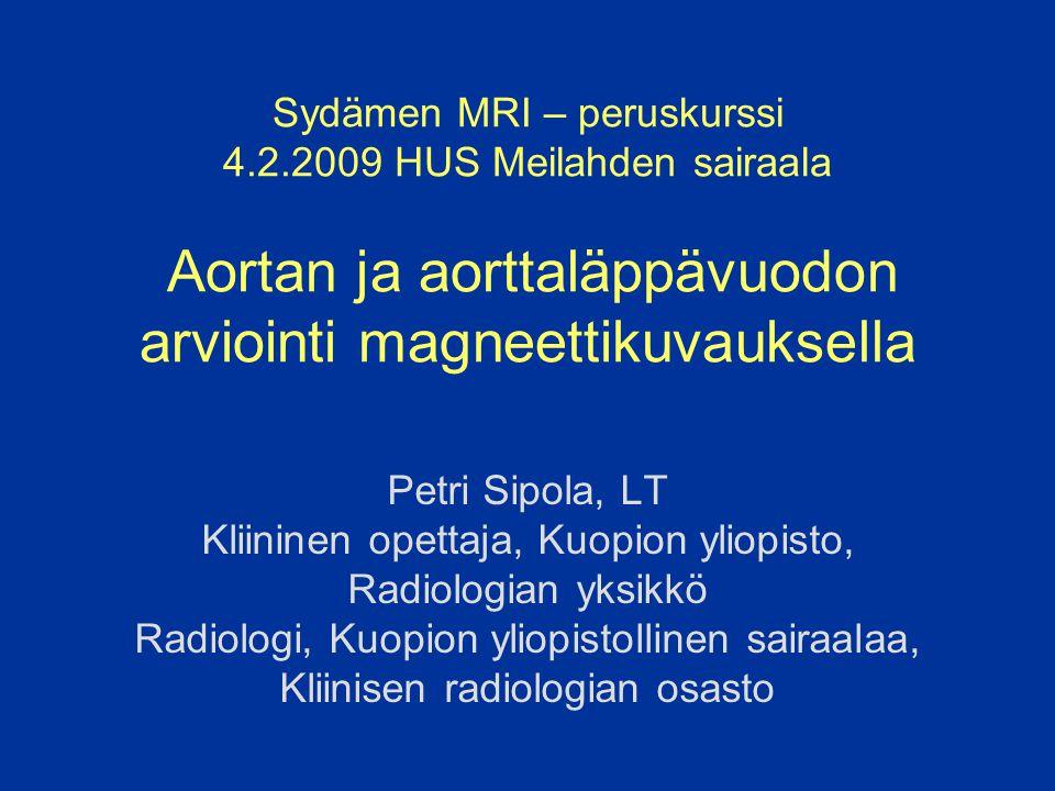 Sydämen MRI – peruskurssi 4. 2
