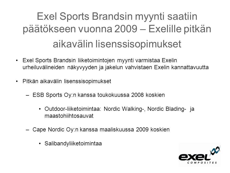 Exel Sports Brandsin myynti saatiin päätökseen vuonna 2009 – Exelille pitkän aikavälin lisenssisopimukset