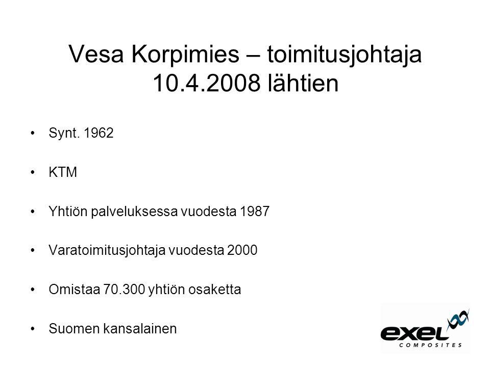 Vesa Korpimies – toimitusjohtaja 10.4.2008 lähtien