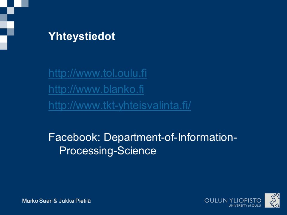 Facebook: Department-of-Information-Processing-Science