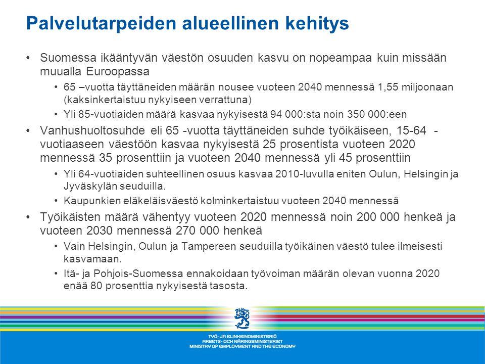 Palvelutarpeiden alueellinen kehitys