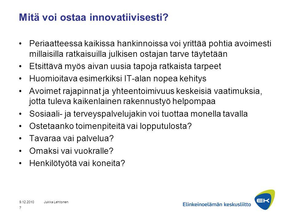 Mitä voi ostaa innovatiivisesti