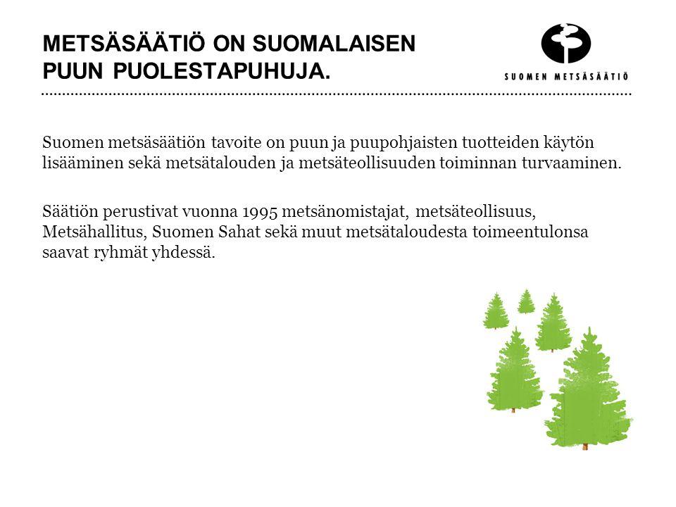 METSÄSÄÄTIÖ ON SUOMALAISEN PUUN PUOLESTAPUHUJA.