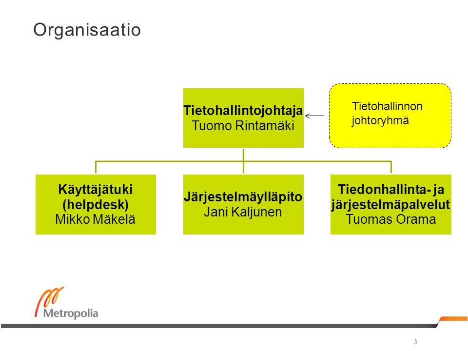 Tietohallintojohtaja Tiedonhallinta- ja järjestelmäpalvelut