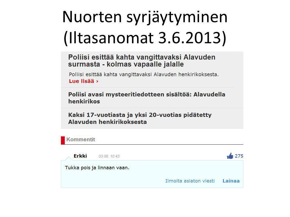 Nuorten syrjäytyminen (Iltasanomat 3.6.2013)