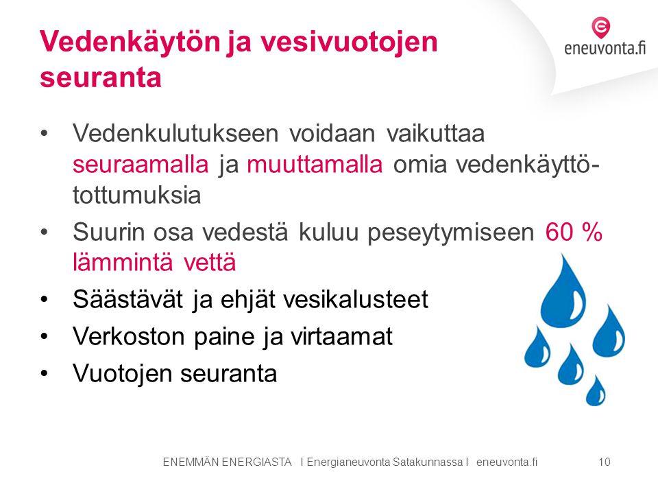 Vedenkäytön ja vesivuotojen seuranta