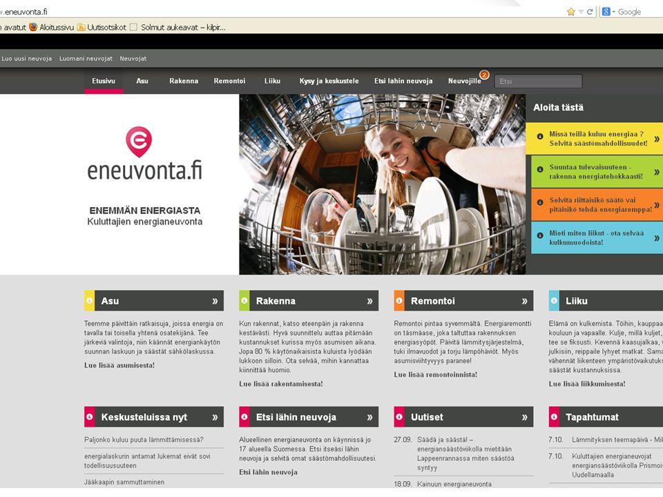 ENEMMÄN ENERGIASTA I Kuluttajien energianeuvonta I eneuvonta.fi