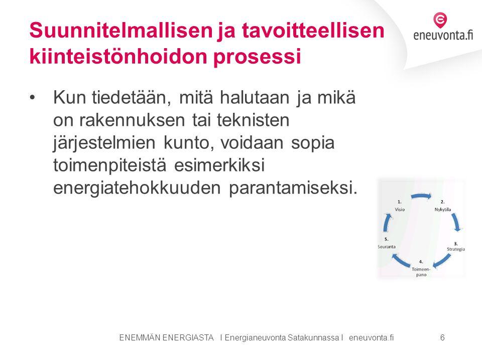 Suunnitelmallisen ja tavoitteellisen kiinteistönhoidon prosessi