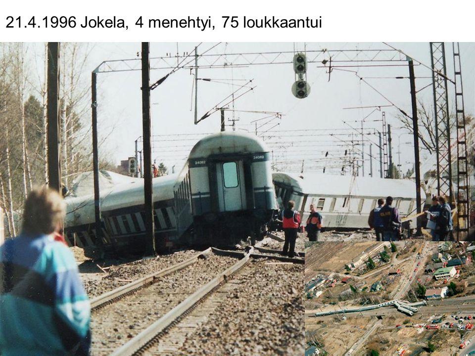 21.4.1996 Jokela, 4 menehtyi, 75 loukkaantui