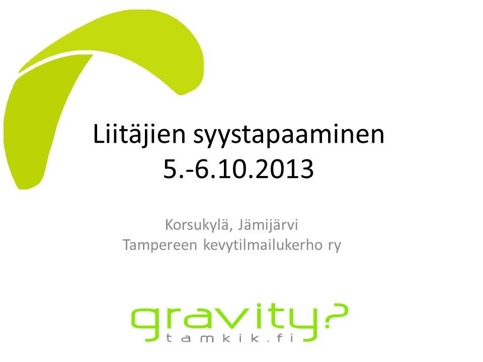Liitäjien syystapaaminen 5.-6.10.2013