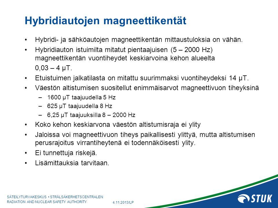Hybridiautojen magneettikentät