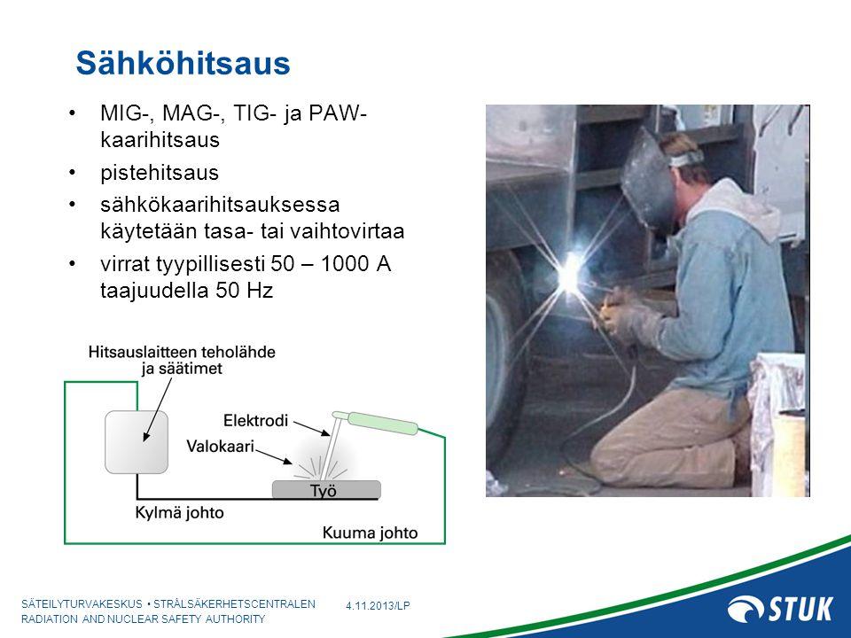 Sähköhitsaus MIG-, MAG-, TIG- ja PAW-kaarihitsaus pistehitsaus