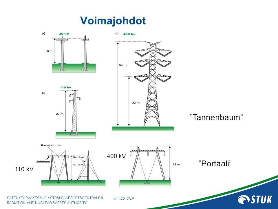 Voimajohdot Tannenbaum 400 kV Portaali 110 kV 4.11.2013/LP