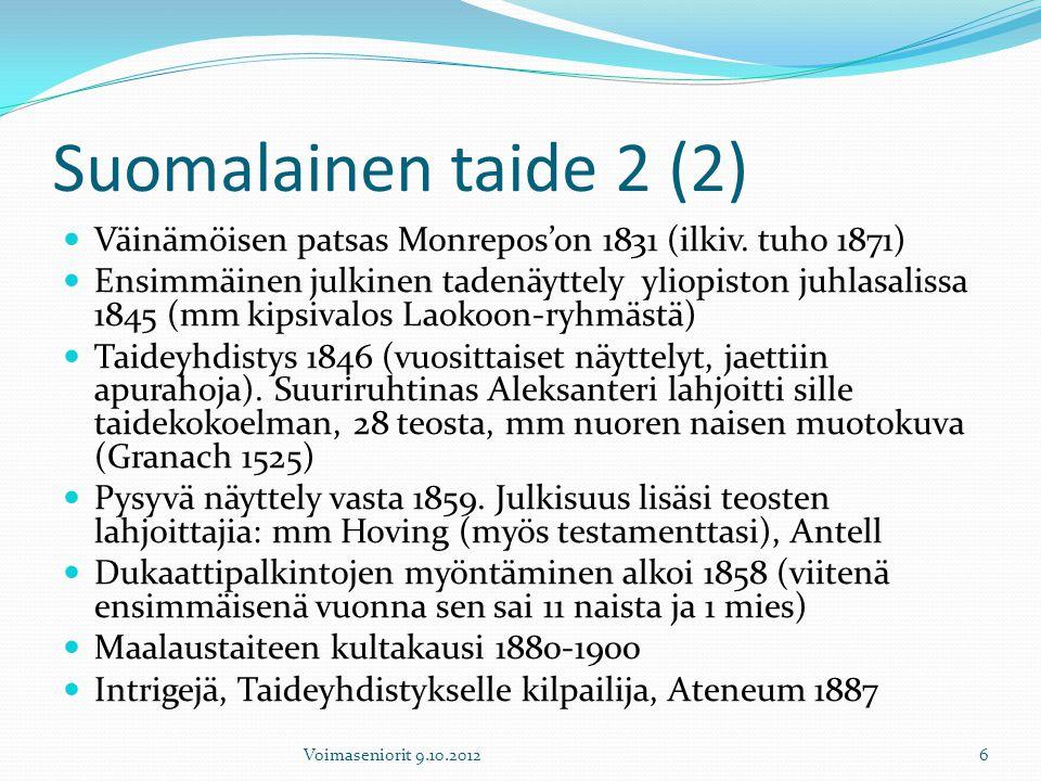 Suomalainen taide 2 (2) Väinämöisen patsas Monrepos'on 1831 (ilkiv. tuho 1871)
