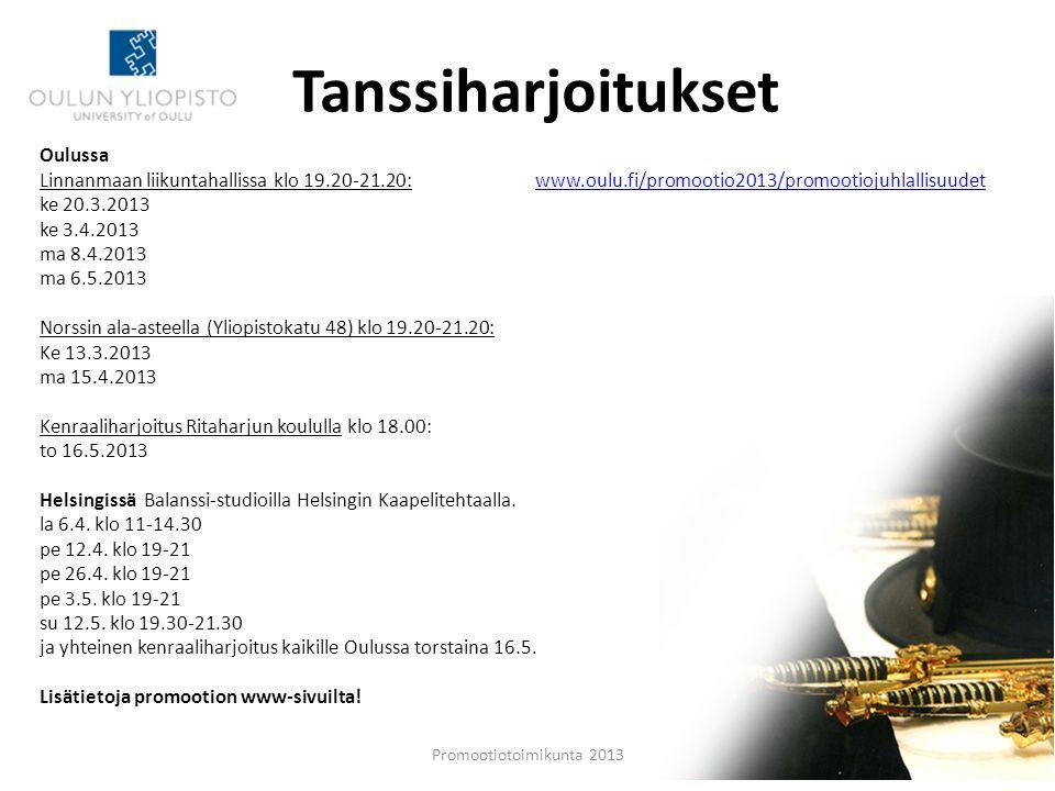 Tanssiharjoitukset Oulussa
